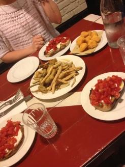 Verdure fritte, Bruschetta @Porto Fluviale